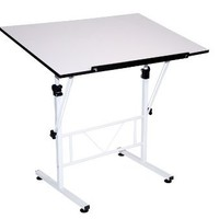 Martin Smart Art-Hobby Table, White with White Top, 24-Inch by 36-Inch Size Surface