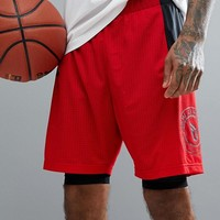 adidas Basketball Dame 2-In-1 Shorts In Red CE7349 at asos.com