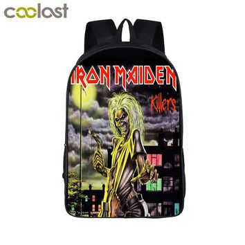 Iron Maiden Backpack Metallica Punk Backpack Men Women Guns N' Roses Street Rock Backpacks For Teenage Hip Hop School Bags