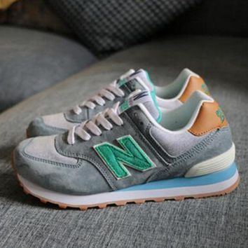 New balance abric is breathable n leisure sports Couples forrest gump running Army green-3