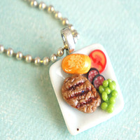 steak plate necklace