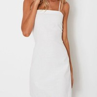 Every Touch White Bow Open Back Dress