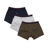 Cotton Modal Boxer Brief Set Green/Assorted