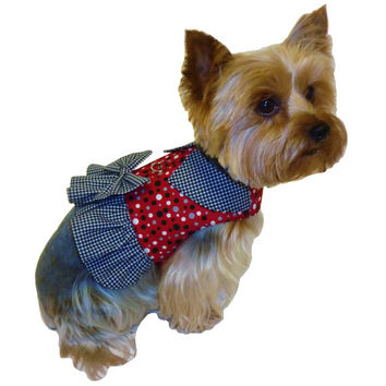 Dog Clothes Sewing Pattern 1635 Ruffle Dog Harness for the Little Dog in Two Styles
