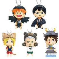 Takara Tomy Haikyuu!! Animal Costume Mascot Set of 5