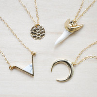 Gold Crescent Necklace, Half moon necklace, Gold Necklace, Layering Necklace, Everyday necklace