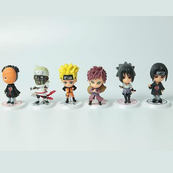 Hot Sale Anime Naruto Action Figure toys Q Version Sasuke Haruno Sakura Uchiha Itachi PVC Figures Model Collection Toy WX170C