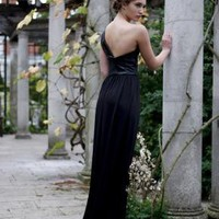 Long Black evening gown in Women's Dresses - Smashing Darling - Try Independent Fashion On