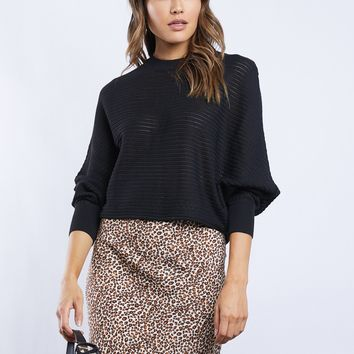 Ellie Cropped Wide Arm Sweater