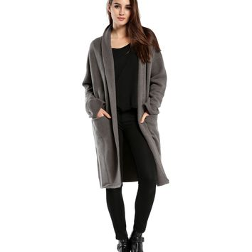 Yak Long Open Blanket Sweater Coat