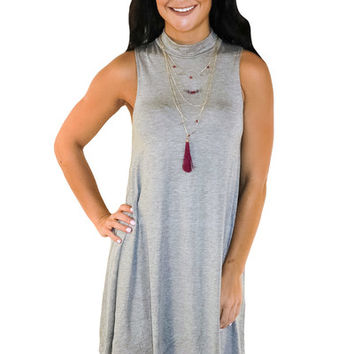 Make Your Mock Dress- Gray | MACA Boutique
