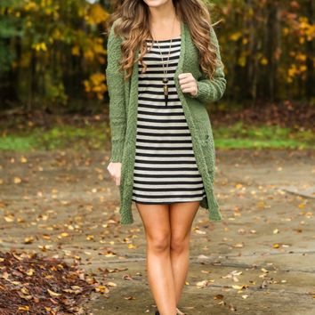 Get Out of Lodge Cardigan-Olive