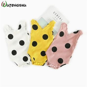 Baby Bodysuits For Girls Cute Bebes Clothes Sleeveless Cotton Newborn Girl Summer Clothes For 0-24M