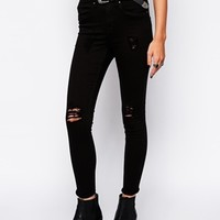 Blend Skinny Jeans With Distressing