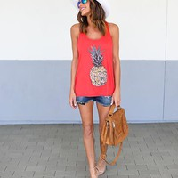 Pineapple Tank - Red