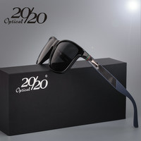 20/20 Brand Classic Polarized sunglasses Men Driving Square Black Frame Eyewear Male Sun Glasses for men Oculos