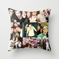 One Direction Collage Throw Pillow by Jessica Rose
