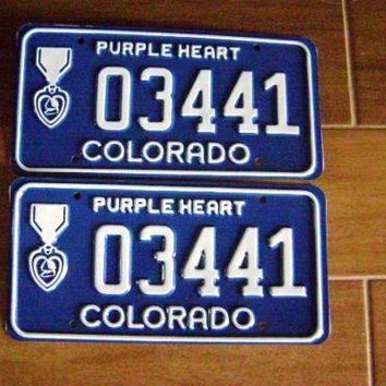 Colorado Purple Heart License Plate