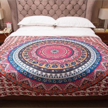 ESBU3C Tapestry Colored Printed Decorative Mandala Tapestry Indian Boho Wall Carpet Free Shipping