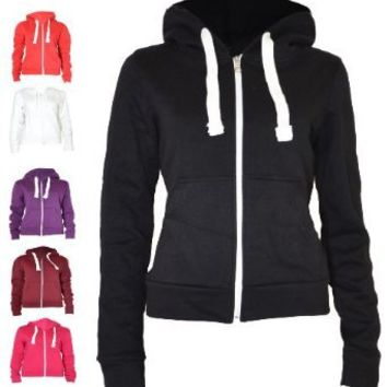 Urban Women's Pull String Zip Hoodies Sweaters