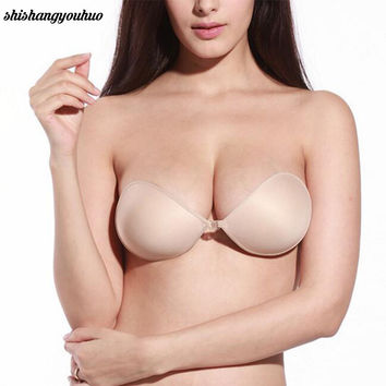 Sexy Women Cottton Silicone Bra Adhesive Sticky Breast Strapless Invisible Bras hot sale