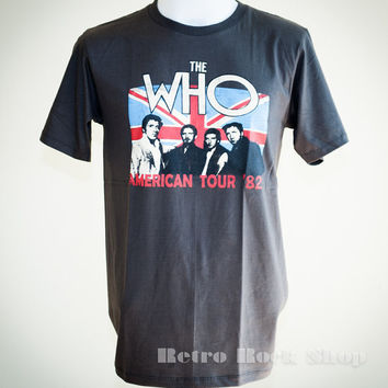 The Who American Tour 1982 Retro T Shirt Unisex by RetroRockShop