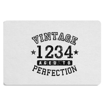 Vintage Birth Year Distressed Personalized Placemat by TooLoud