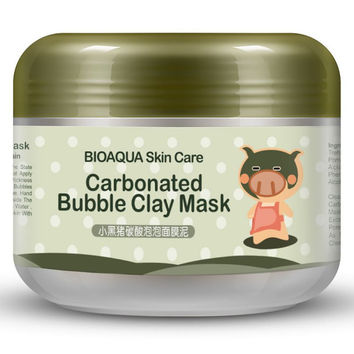 Hot Deep Pore Cleansing Clay Mask Carbonated Bubble Anti-Acne Moisturizing Face Mask