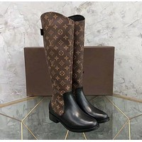 Louis Vuitton LV Fashion Women Leather High Boots Shoes