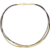 Isabel Marant - Gold-plated leather necklace