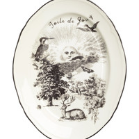 H&M - Serving Plate - White/black