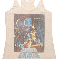 STAR WARS SPANISH POSTER JUNIOR TANK TOP