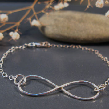 Infinity bracelet, sterling silver bracelet, designer jewelry for everyday, infinity jewelry line