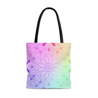 Colorful Mandala Tote Bag