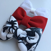 Fourth of July Seaside Sparrow hair bow set 4th of July bow Seaside Sparrow hair bow Hair bows for teens Hair bows for girls bows accessory.