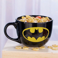24 oz Batman Superhero Licensed Soup Mug Ceral Snacks Coffee Collectible Gift