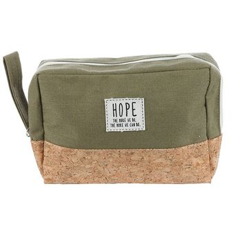 """Hope The More We Do ..."" Makeup Pouch Olive"