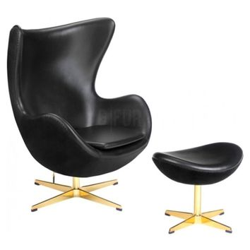 Golden Egg Chair 50th Anniversary & Ottoman - Reproduction | GFURN