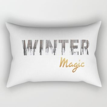 Winter Magic Rectangular Pillow by SagaciousDesign