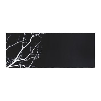 "Skye Zambrana ""Winter Black"" Bed Runner - Outlet Item"
