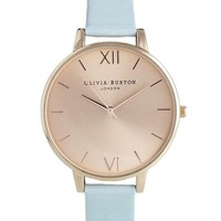 Olivia Burton Blue Big Dial Watch