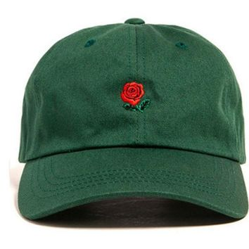 CREYHY3 Green Pink Black Navy Khaki Sky Blue THE HUNDREDS Flower Rose Embroidery Curved Summer Snapback Baseball Cap trapback Hip Hop