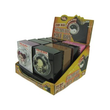 Turn Dial Cigarette Safe Box Countertop Display Case Pack 8