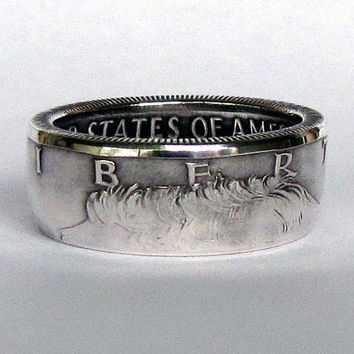 SILVER Kennedy Half Dollar Coin Ring