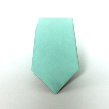 Men's Tie - Mint Green - Solid Mint Necktie