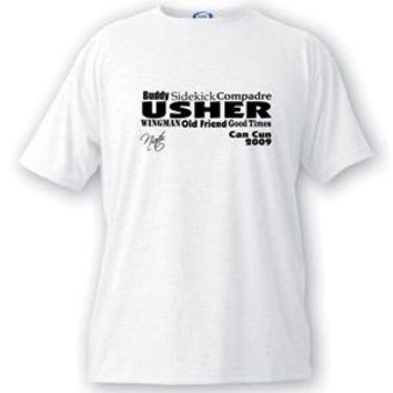 Text Series Usher T-shirt