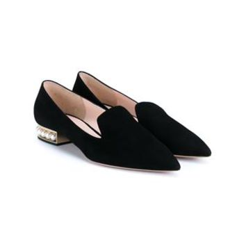NICHOLAS KIRKWOOD   Pearl Embellished Suede Loafers   brownsfashion.com   The Finest Edit of Luxury Fashion   Clothes, Shoes, Bags and Accessories for Men & Women
