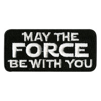 Star Wars May The Force Be With You Iron-On Patch