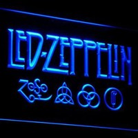 c002 Led Zeppelin Rock n Roll Punk LED Neon Sign with On Off Switch 7 Colors to choose