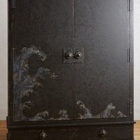 Tracey Boyd Nami Armoire in Black Size: One Size Furniture